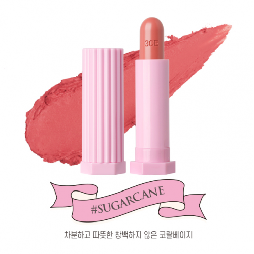 3CE Love Glossy Lip Stick #Sugarcane