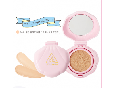 3CE Love Baby Glow Cushion SPF50+ PA+++ #001 ผิวขาว-ขาวเหลือง