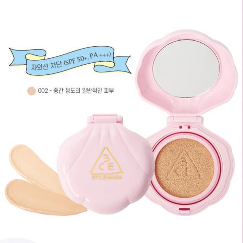 3CE Stylenanda Love Baby Glow Cushion SPF50+ PA+++ #002 ผิวสองสี-คล้ำ