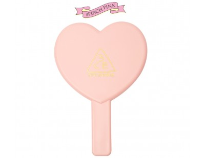 3CE Love Heart Hand Mirror #ชมพู