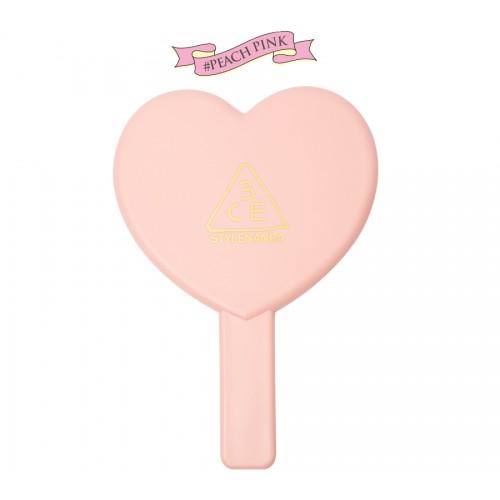 3CE Stylenanda Love Heart Hand Mirror #ชมพู