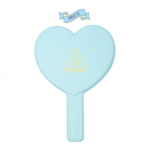 3CE Love Heart Hand Mirror #ฟ้า