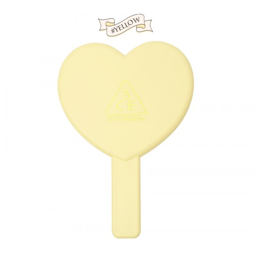 3CE Love Heart Hand Mirror #เหลือง