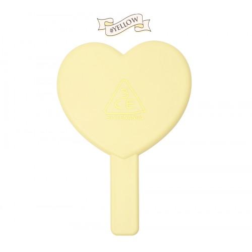 3CE Stylenanda Love Heart Hand Mirror #เหลือง