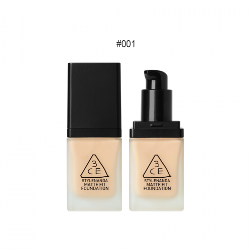 3CE Matte Fit Foundation SPF50+PA+++ #001 ผิวขาว