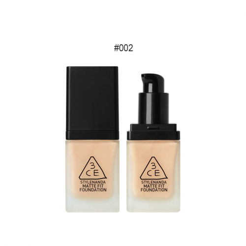 3CE Matte Fit Foundation SPF50+PA+++ #002 ผิวคล้ำ