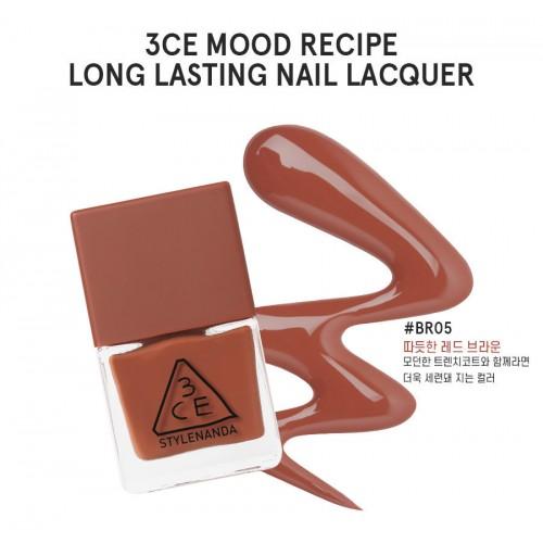 3CE Mood Recipe Long Lasting Nail Lacquer #BR05