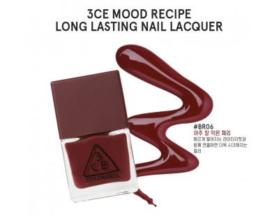 3CE Mood Recipe Long Lasting Nail Lacquer #‎BR06