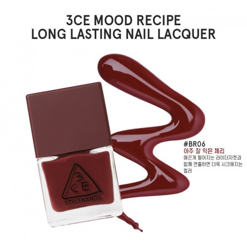 3CE Mood Recipe Long Lasting Nail Lacquer #BR06