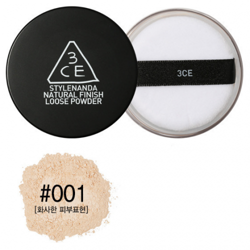 3CE Natural Finish Loose Powder #001 ผิวขาว-ขาวเหลือง