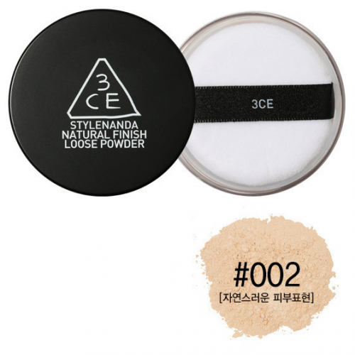 3CE Stylenanda Natural Finish Loose Powder #002 ผิวสองสี-คล้ำ