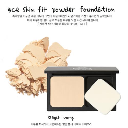3CE Skin Fit Powder Foundation #ผิวขาว-ขาวเหลือง