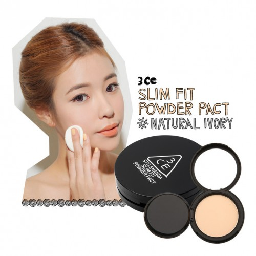 3CE Slim Fit Powder Pact #Natural Ivory