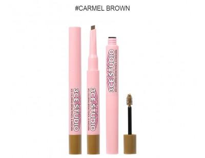 3CE Studio Coloring Brow Pencil & Mascara #1 Caramel Brown