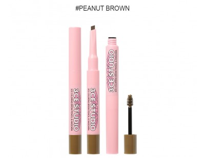 3CE Studio Coloring Brow Pencil & Mascara #2 Peanut Brown