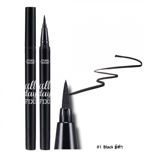 Etude House All Day Fix Pen Liner #1 ดำ