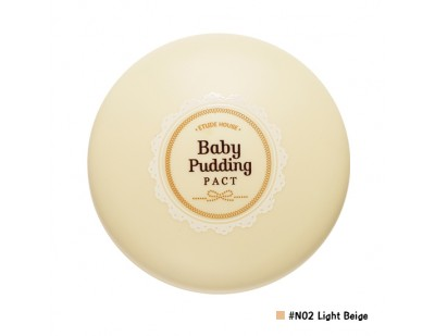 Etude House Baby Pudding Pact SPF33 PA++ #N02 Light Beige