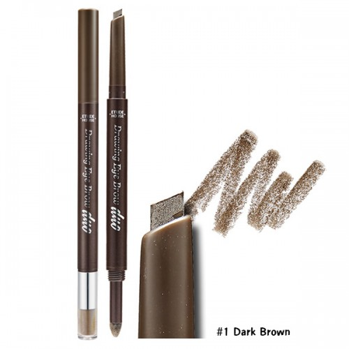Etude House Drawing Eye Brow Duo #1 น้ำตาลเข้ม
