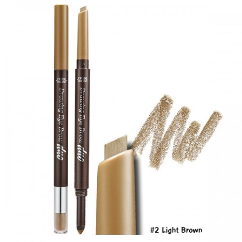 Etude House Drawing Eye Brow Duo #2 น้ำตาลอ่อน