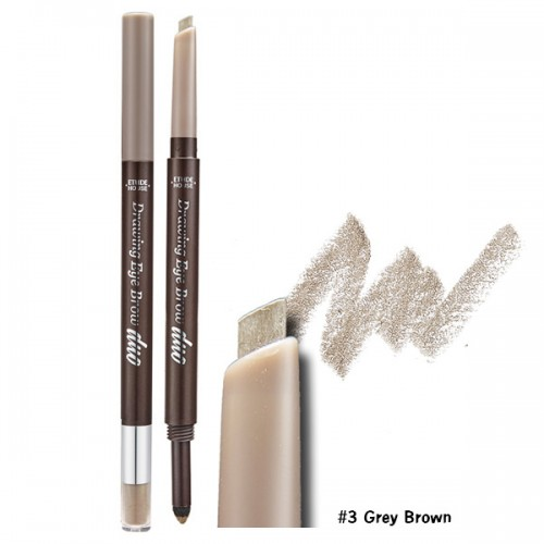 Etude House Drawing Eye Brow Duo #3 น้ำตาลเทา