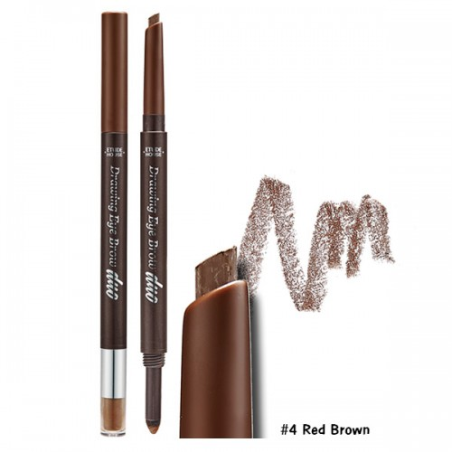 Etude House Drawing Eye Brow Duo #4 น้ำตาลแดง
