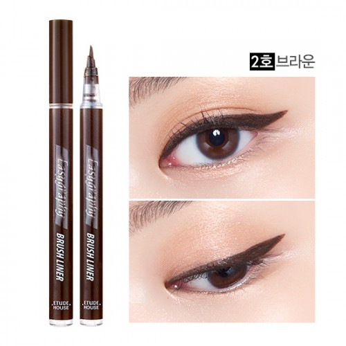 Etude House Drawing Show Easygraphy Brush Liner #2 น้ำตาลเข้ม