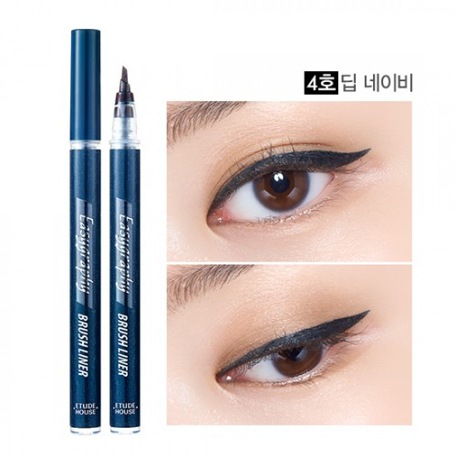 Etude House Drawing Show Easygraphy Brush Liner #4 น้ำเงินเข้ม