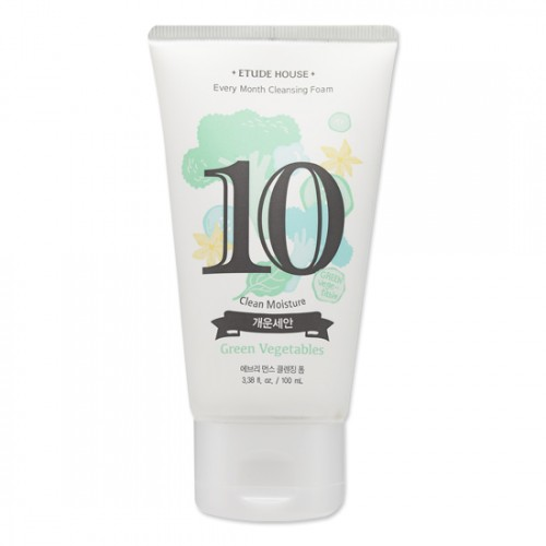 Etude House Every Month Cleansing Foam #10 Green Vegetables