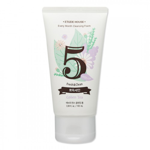 Etude House Every Month Cleansing Foam #5 Green Tea