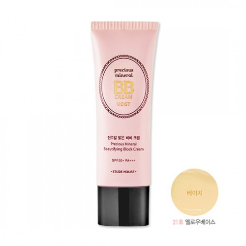 Etude House Precious Mineral Beautifying Block Cream Moist SPF50+ PA+++ #21 Beige