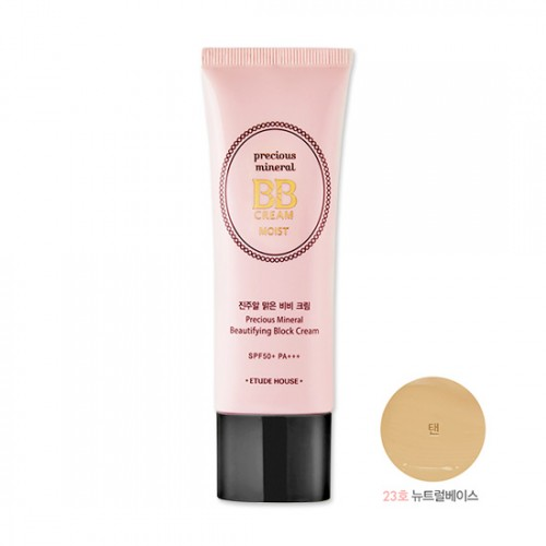 Etude House Precious Mineral Beautifying Block Cream Moist SPF50+ PA+++ #23 Tan