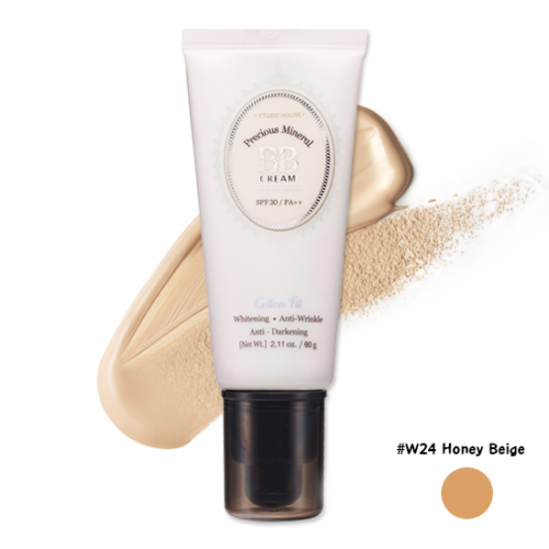 Etude House Precious Mineral Cotton Fit BB Cream SPF30 PA++ #W24 Honey Beige