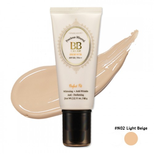 Etude House Precious Mineral Perfect Fit BB Cream SPF30 PA++ #N02 Light Beige