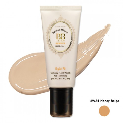 Etude House Precious Mineral Perfect Fit BB Cream SPF30 PA++ #W24 Honey Beige