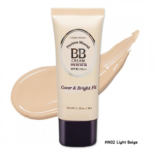 Etude House Precious Mineral BB Cream Cover & Bright Fit SPF30 PA++ #N02 Light Beige