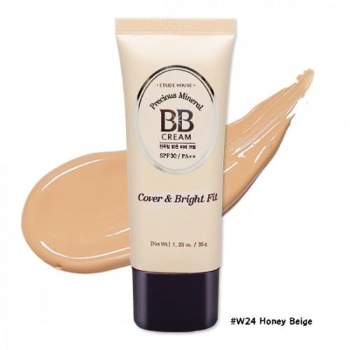 Etude House Precious Mineral BB Cream Cover & Bright Fit SPF30 PA++ #W24 Honey Beige