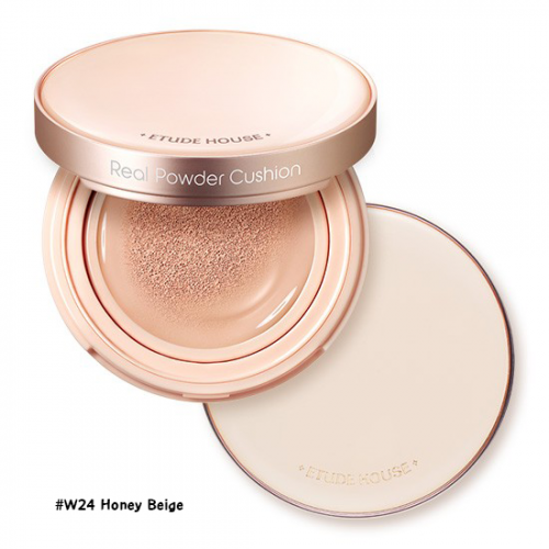 Etude House Real Powder Cushion SPF50+ PA+++ #W24 Honey Beige
