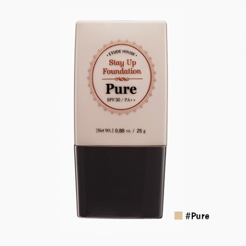 Etude House Stay Up Foundation SPF30 PA++ #Pure ผิวสองสี