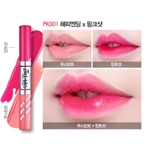 Etude House Twin Shot LipsTint #PK001