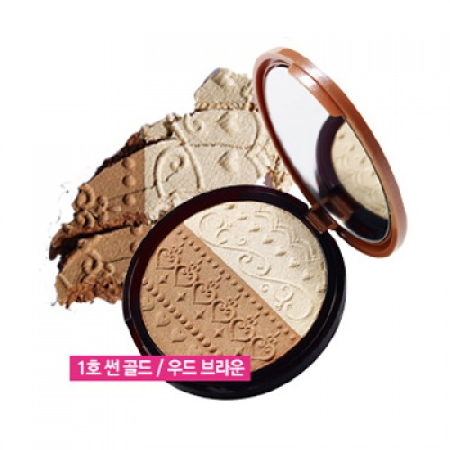 Etude House V Line Slim Maker #1 Sun Gold / Wood Brown