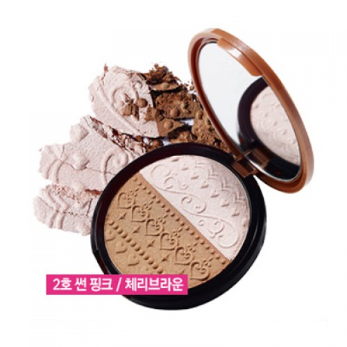 Etude House V Line Slim Maker #2 Sun Pink / Cherry Brown
