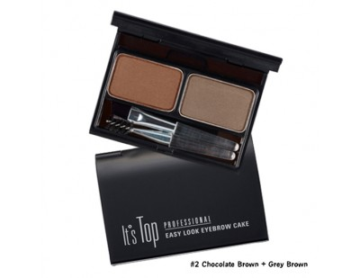 It's Skin It's Top Professional Eyebrow Cake #2 Chocolate Brown + Grey Brow