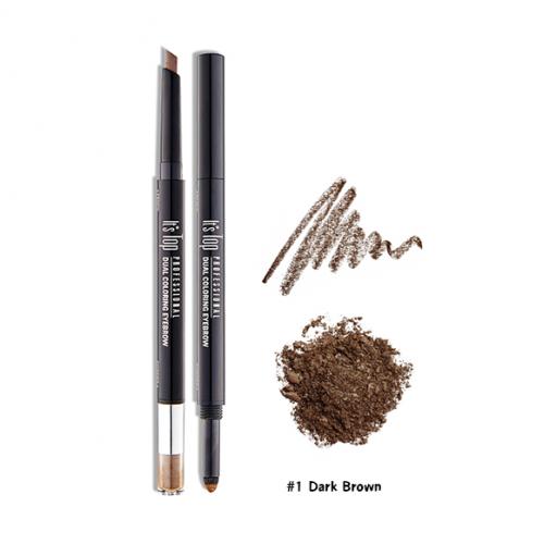 It's Skin It's Top Professional Dual Coloring Eyebrow #1 น้ำตาลเข้ม