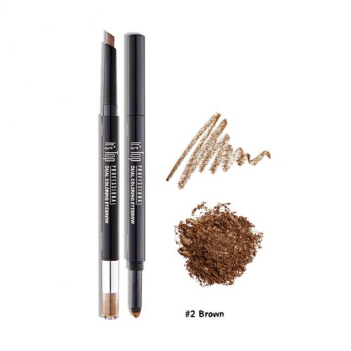 It's Skin It's Top Professional Dual Coloring Eyebrow #2 น้ำตาล