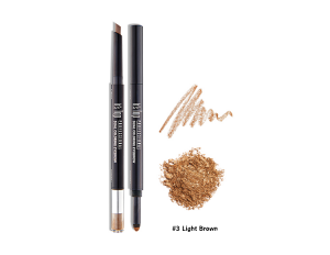 It's Skin It's Top Professional Dual Coloring Eyebrow #3 น้ำตาลอ่อน