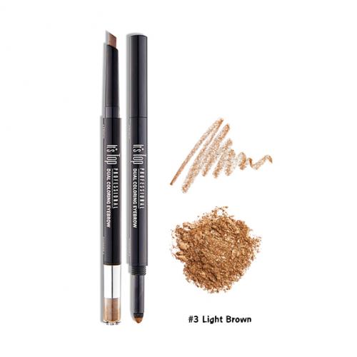 It's Skin It's Top Professional Dual Coloring Eyebrow #3 น้ำตาลอ่อน