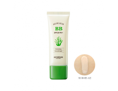Skinfood Aloe Sunscreen BB Cream SPF20 PA+(UV Protection) #1 ผิวขาว