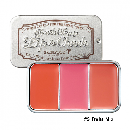 Skinfood Fresh Fruit Lip & Cheek Trio #5 Fruits Mix