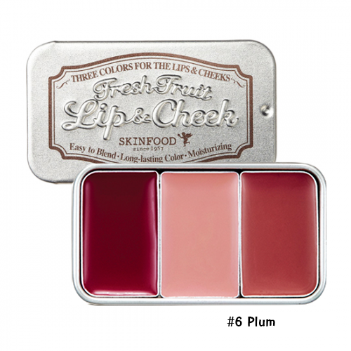 Skinfood Fresh Fruit Lip & Cheek Trio #6 Plum