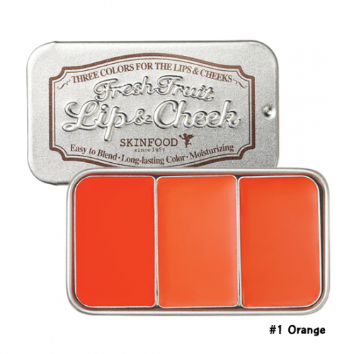 Skinfood Fresh Fruit Lip & Cheek Trio #1 Orange